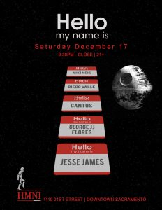 Hello My Name is Saturday December 17, 2016